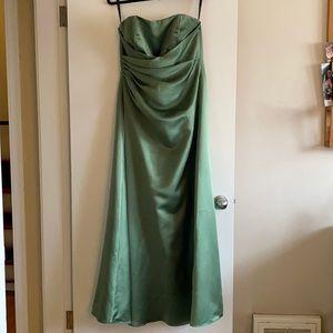 Clover Green Floor Length Bridesmaid Dress